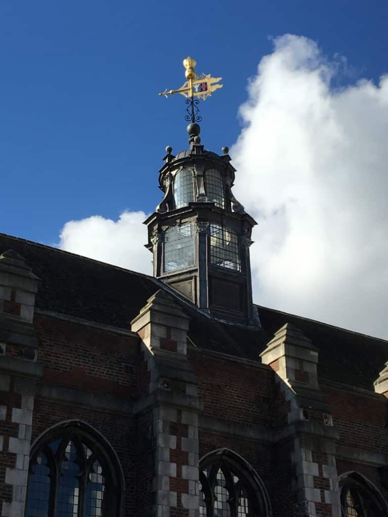 Detail of the glass turret and Weathervane of the Great Hall