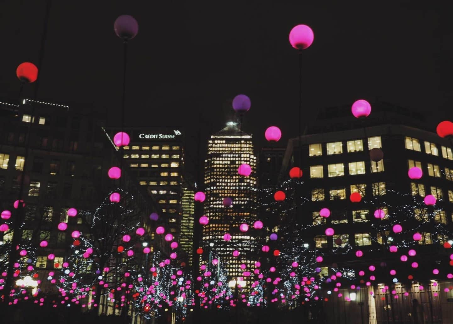 Canary Wharf Winter Lights Festival 2017