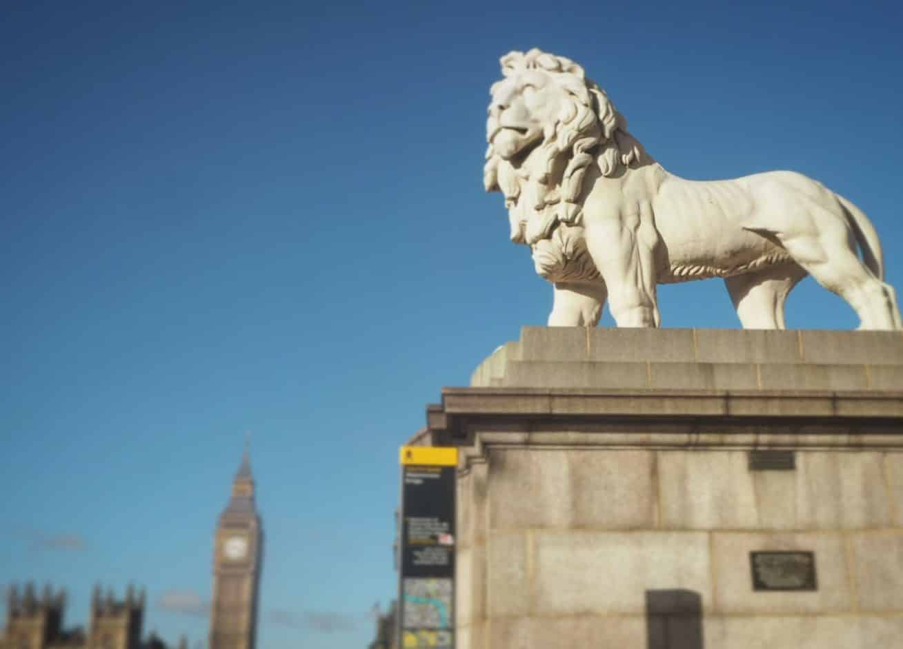 Lion on Westminster Bridge