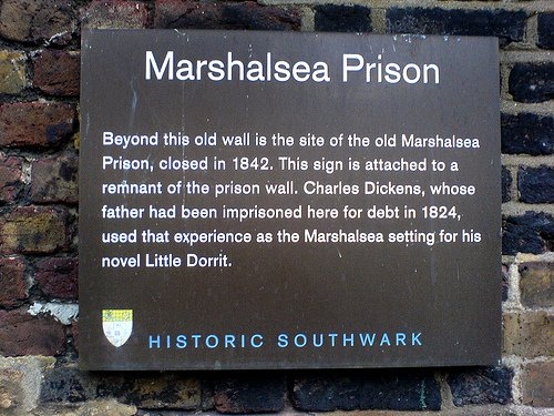 Marshalsea Prison Wall Remains