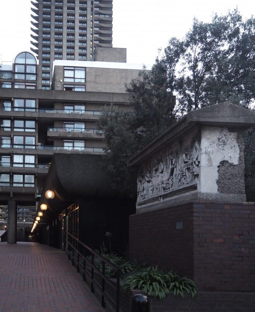 Barbican Frieze Aldersgate Street