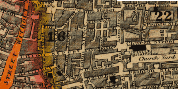 History of 42 Brushfield Street Spitalfields