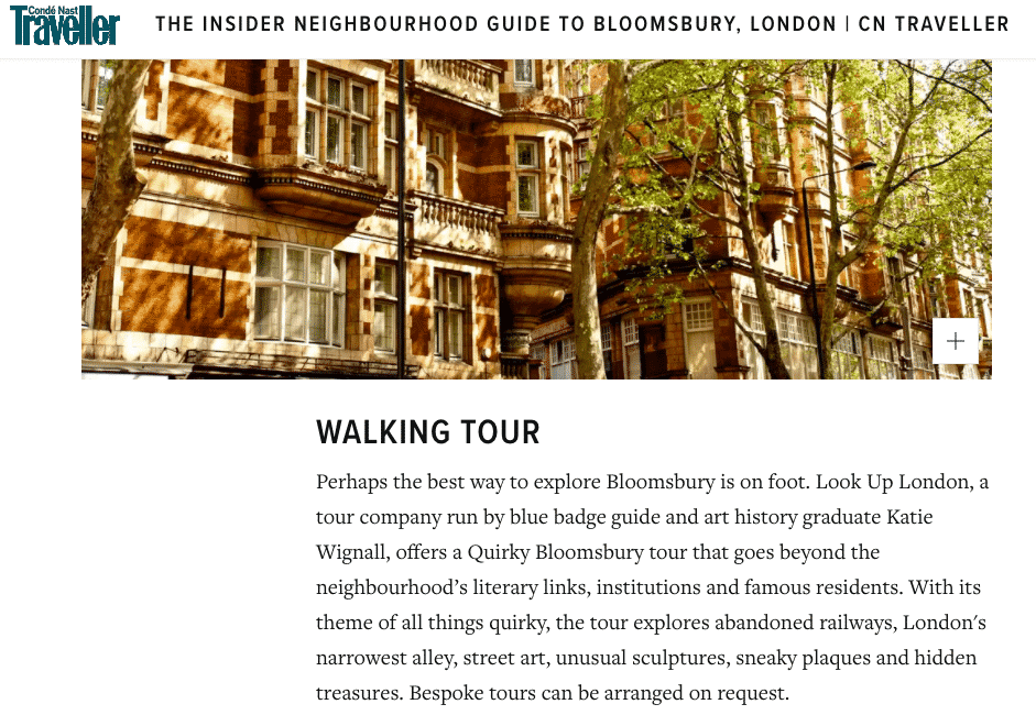 Quirky Bloomsbury Walking Tour