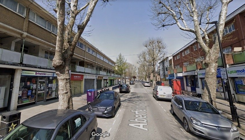 ABERFELDY STREET MURALS - before