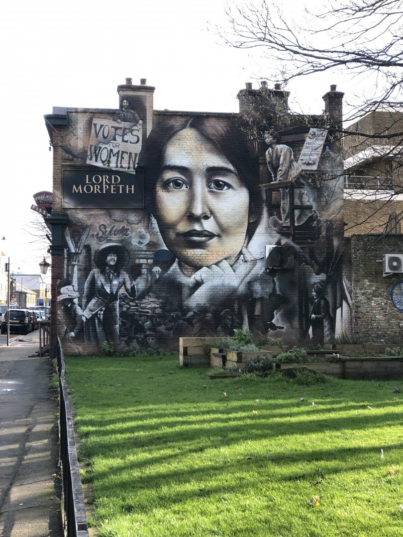 Sylvia Pankhurst Mural, Lord Morpeth Look Up London