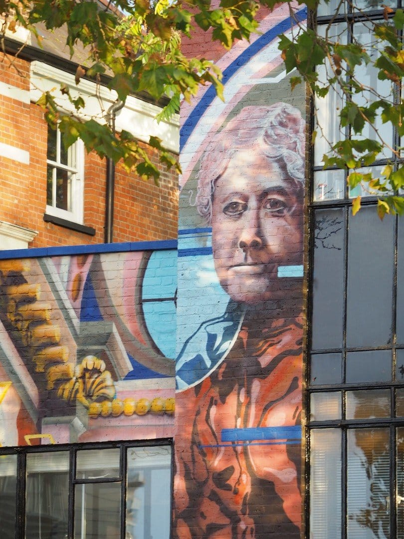 Clara Grant Mural Bow Road - Look Up London