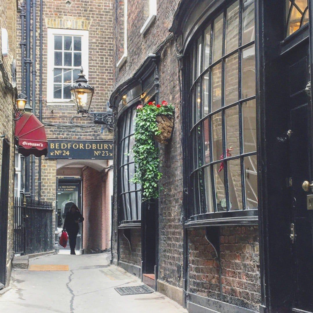 Best Historic London Alleys - Goodwins Court, Look Up London