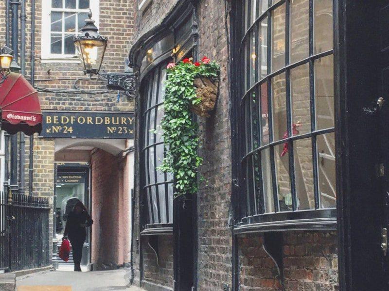 Best Historic London Alleys - Goodwins Court Look Up London