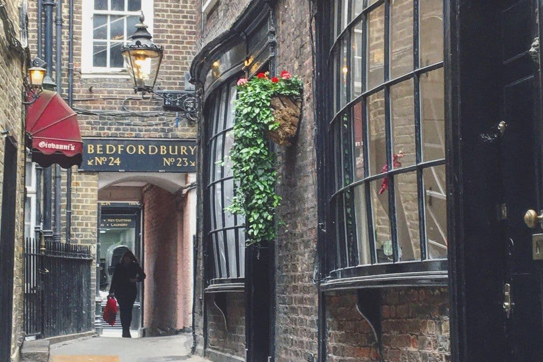 Best Historic London Alleys - Goodwins Court Look Up London