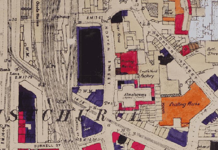 Hopton Street History - Bomb Damage from 1945