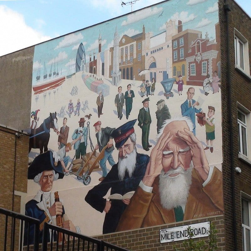 Best Historic London Murals - Mile End Road