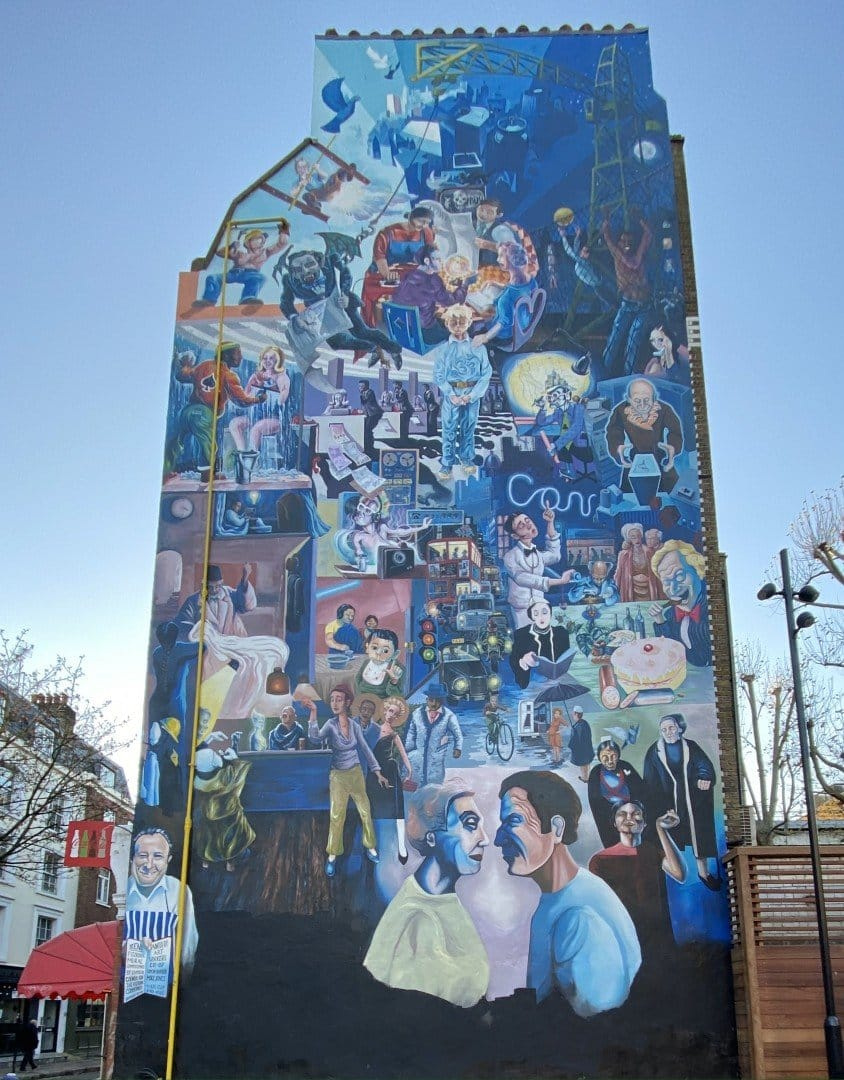 Best Historic London Murals - Fitzrovia