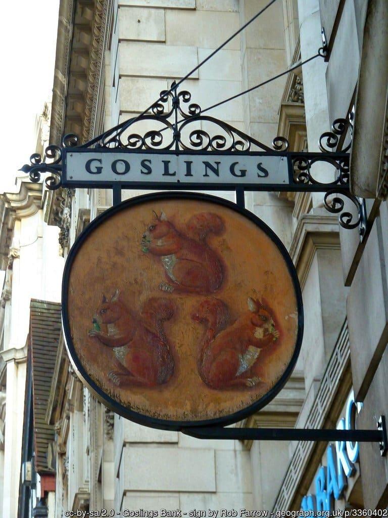 City of London Animals - Goslings Bank Squirrels