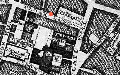 Memorial Cloak Lane - John Rocque Layers of London