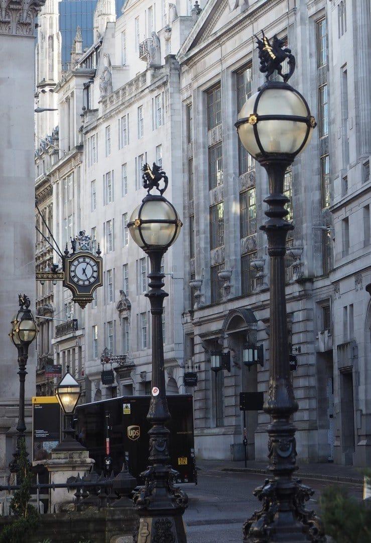 Lampposts Royal Exchange | Look Up London