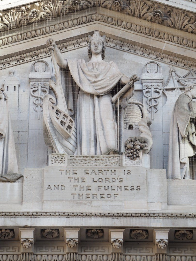Pediment Royal Exchange | Look Up London