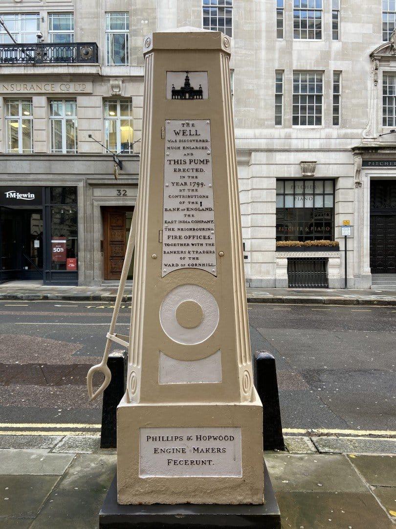 Pump Royal Exchange | Look Up London