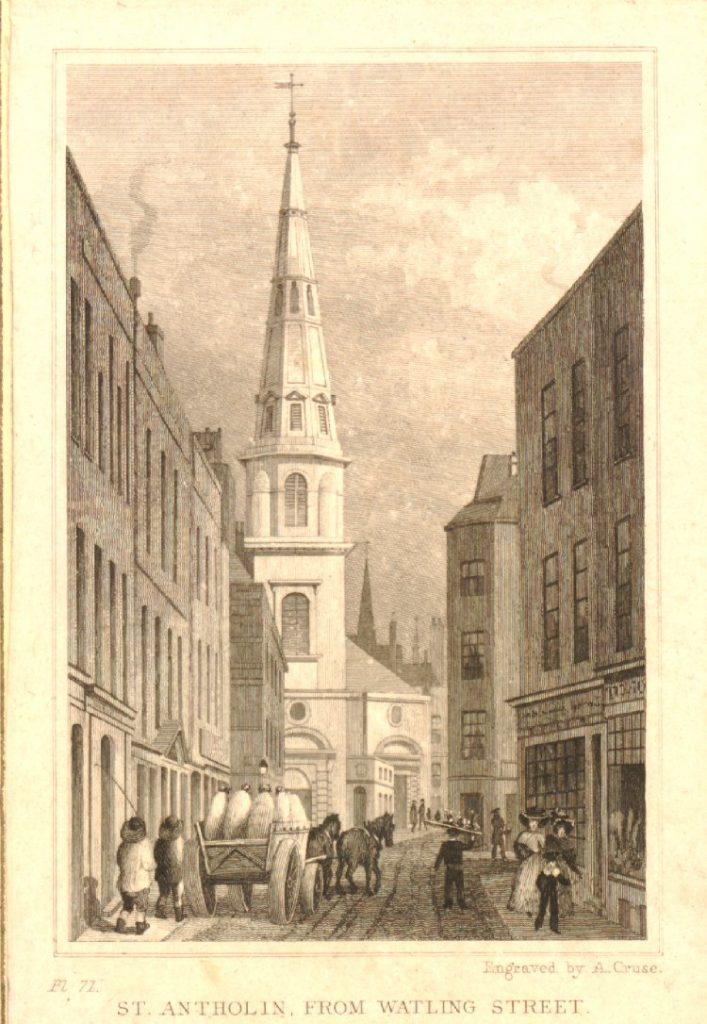 Memorial Cloak Lane - St Antholin Wikimedia